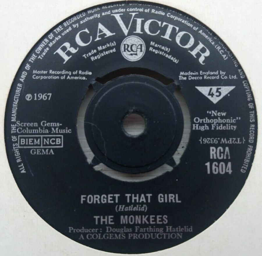 The Monkees - Forget That Girl / Alternative Title - 7