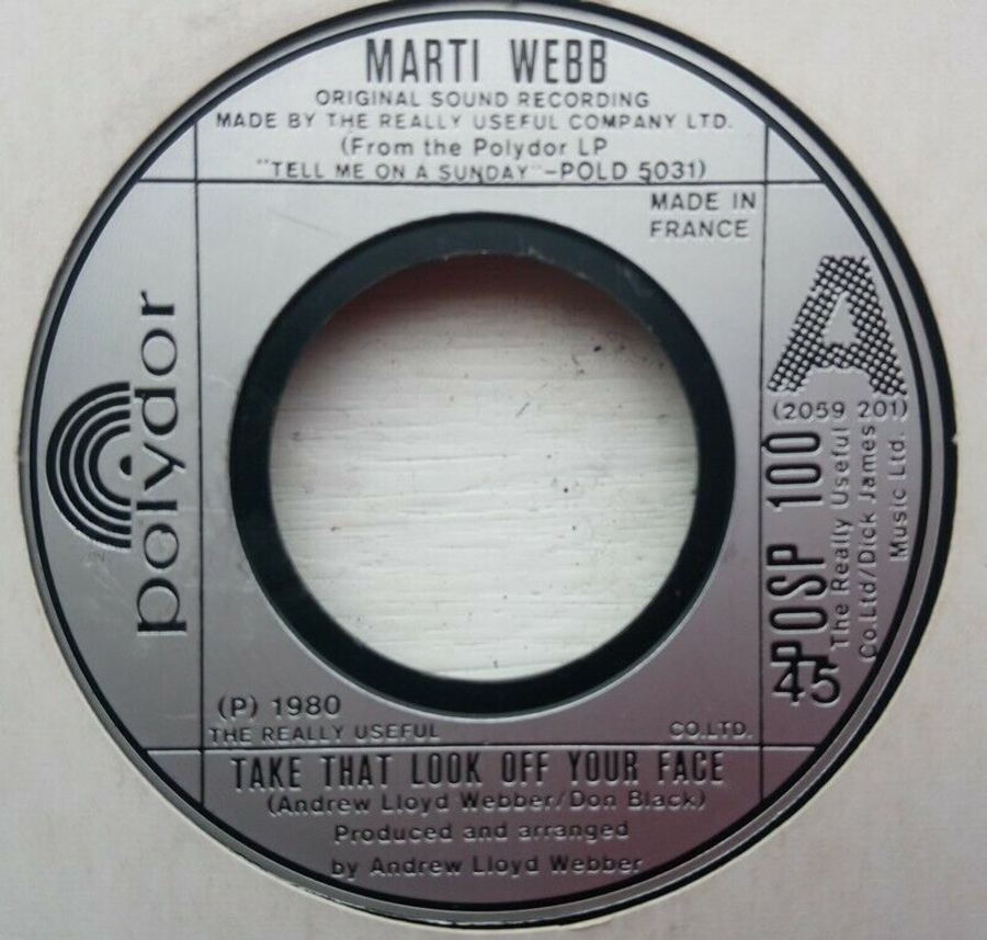 Marti Webb - Take That Look Of Your Face - Vinyl Record 7