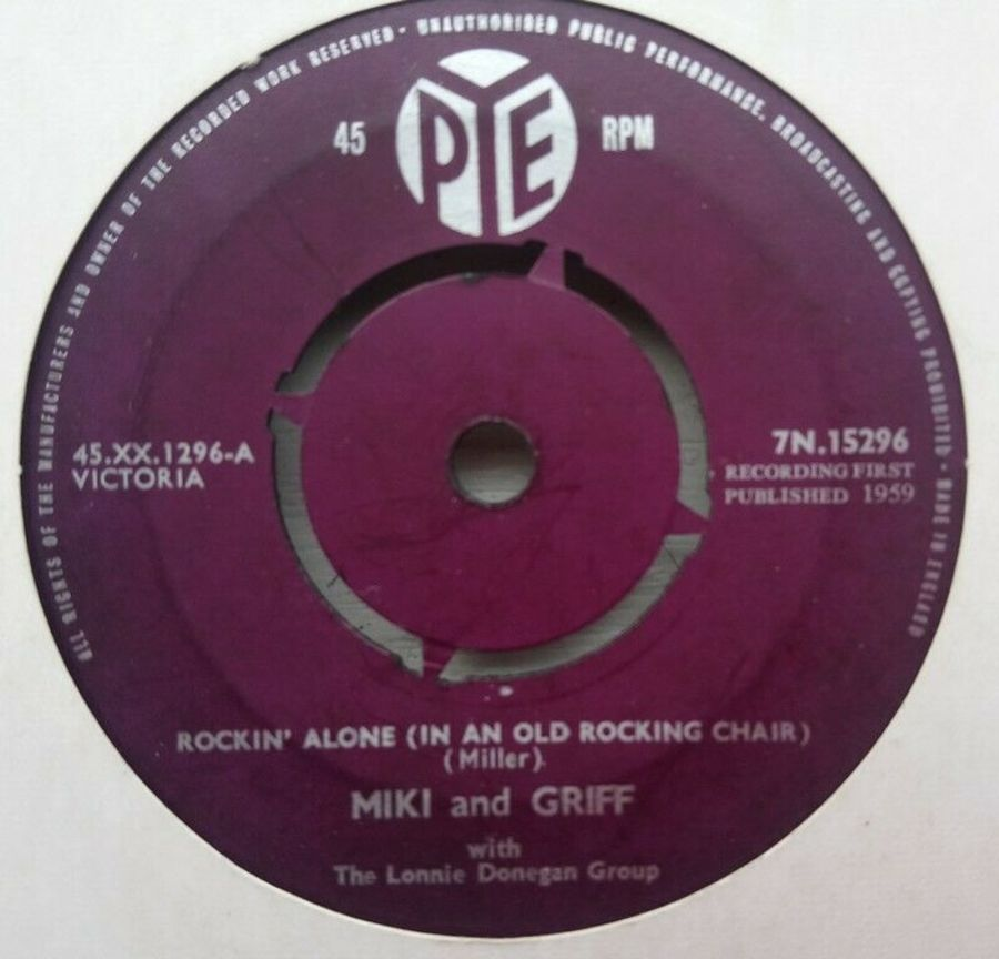 Miki And Griff - Rockin Alone In An Old Rocking Chair - Vinyl Record 45 RPM