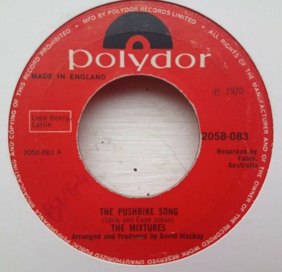 The Mixtures - The Pushbike Song - Vinyl Record 45 RPM