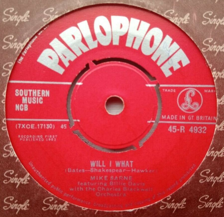 Mike Sarne - Will I What - Vinyl Record 45 RPM