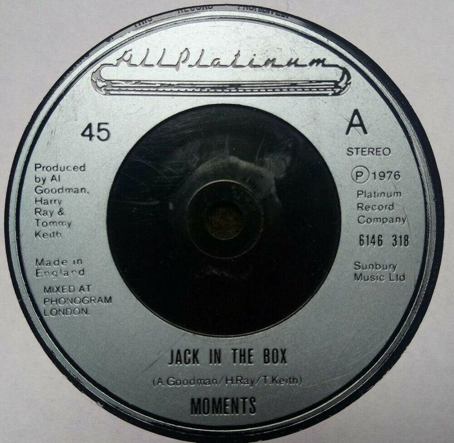 Moments - Jack In The Box - Vinyl Record 7