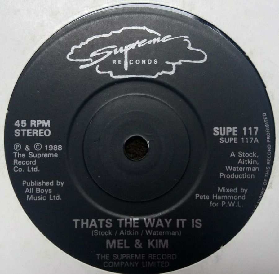Mel & Kim - That's The Way It is - Vinyl Record 7