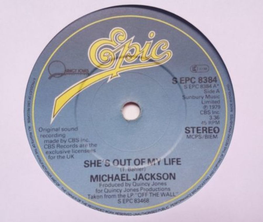 Michael Jackson - She's Out Of My Life - Vinyl Record 7