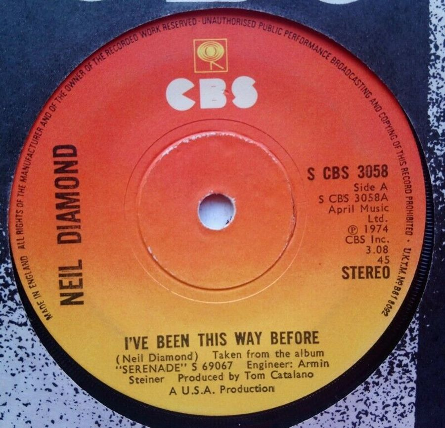 Neil Diamond - I've Been This Way Before - Vinyl Record 7