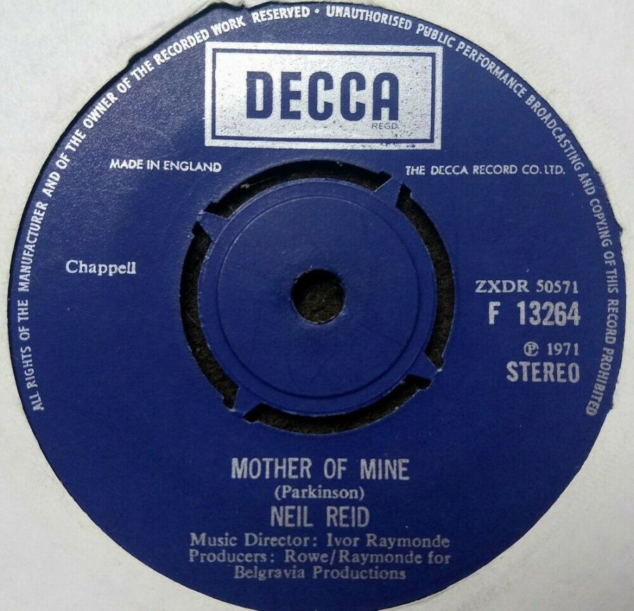 Neil Reid - Mother Of Mine - Vinyl Record 7