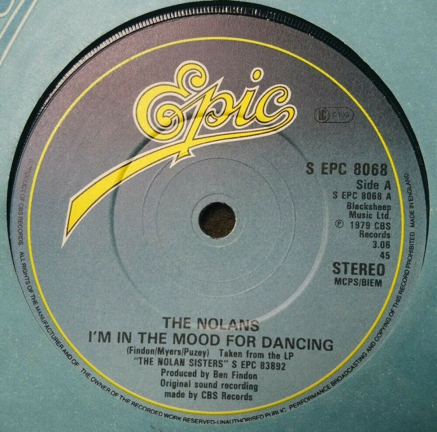 The Nolans - I'm In The Mood For Dancing - Vinyl Record 7