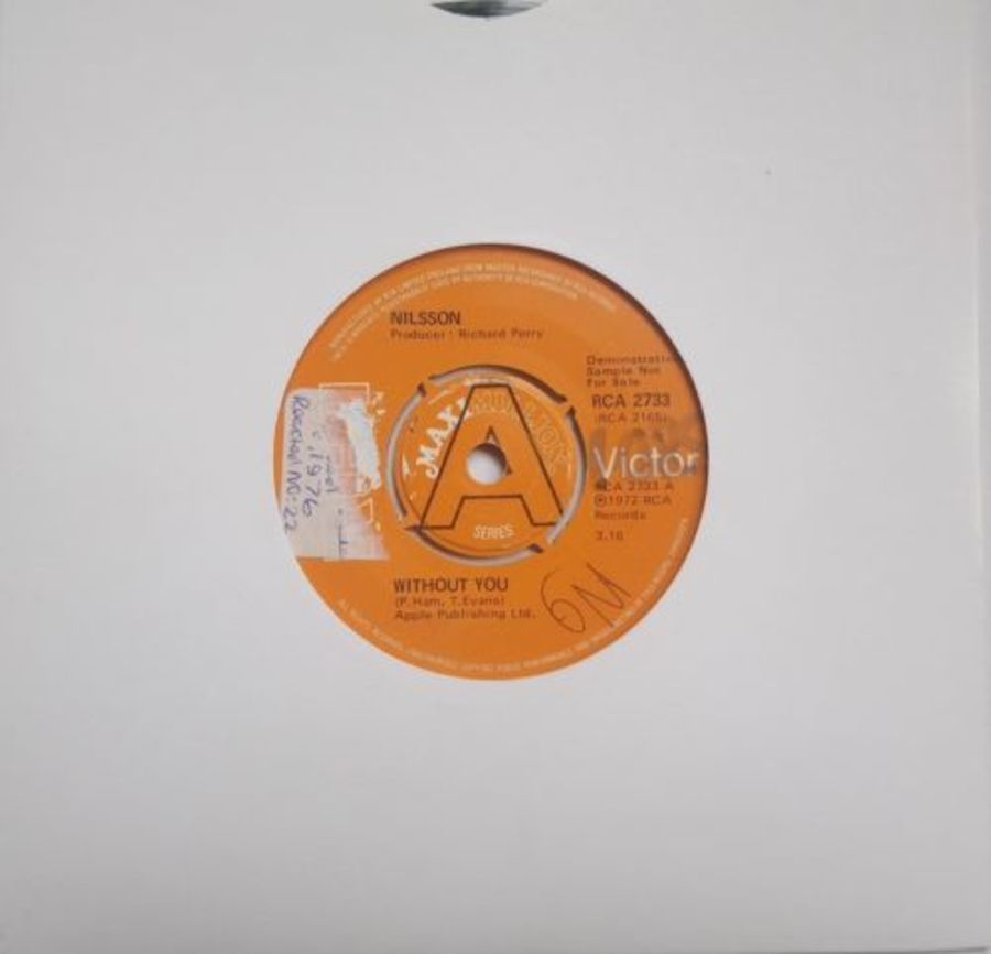 Nilsson - Without You DEMO - Vinyl Record 7
