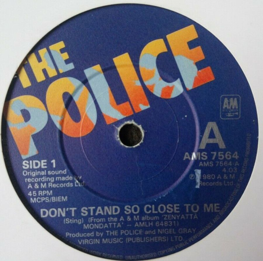 The Police - Don't Stand So Close To Me - Vinyl Record 7