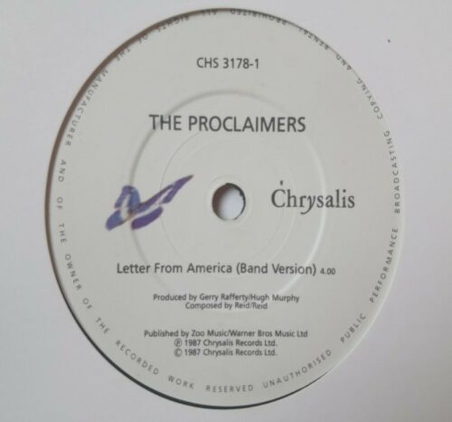 The Proclaimers - Letters From America - Vinyl Record 7