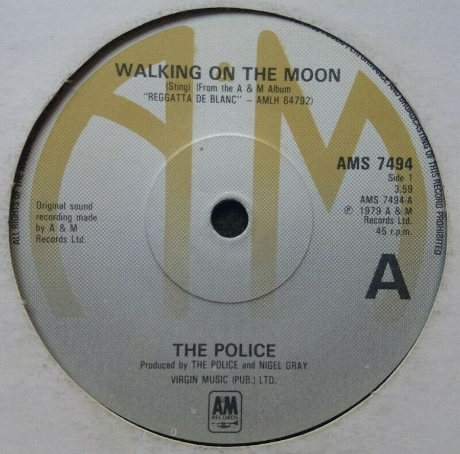 The Police - Walking On The Moon - Vinyl Record 7