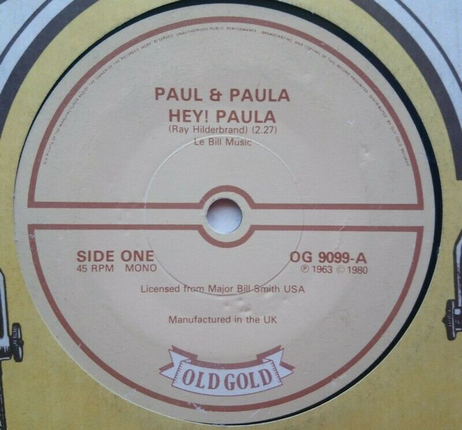 Paul & Paula - Hey! Paula - Vinyl Record 7