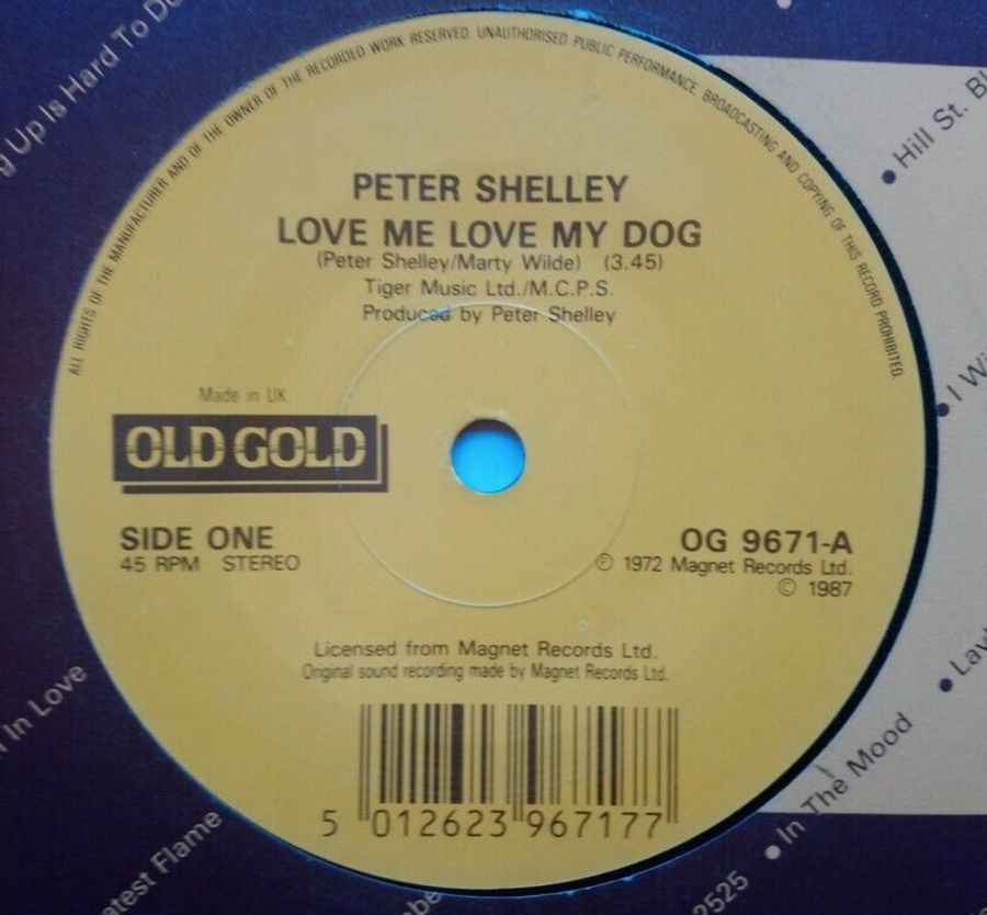 Peter Shelley - Love Me Love My Dog - Vinyl Record 7