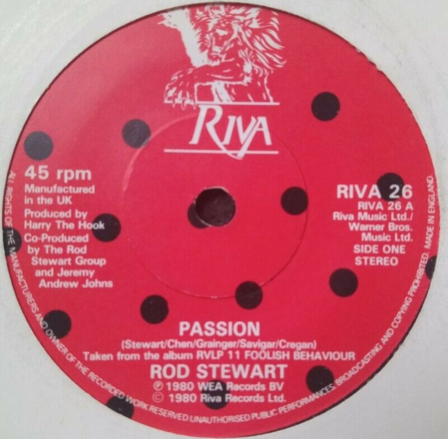Rod Stewart - Passion - Vinyl Record 7