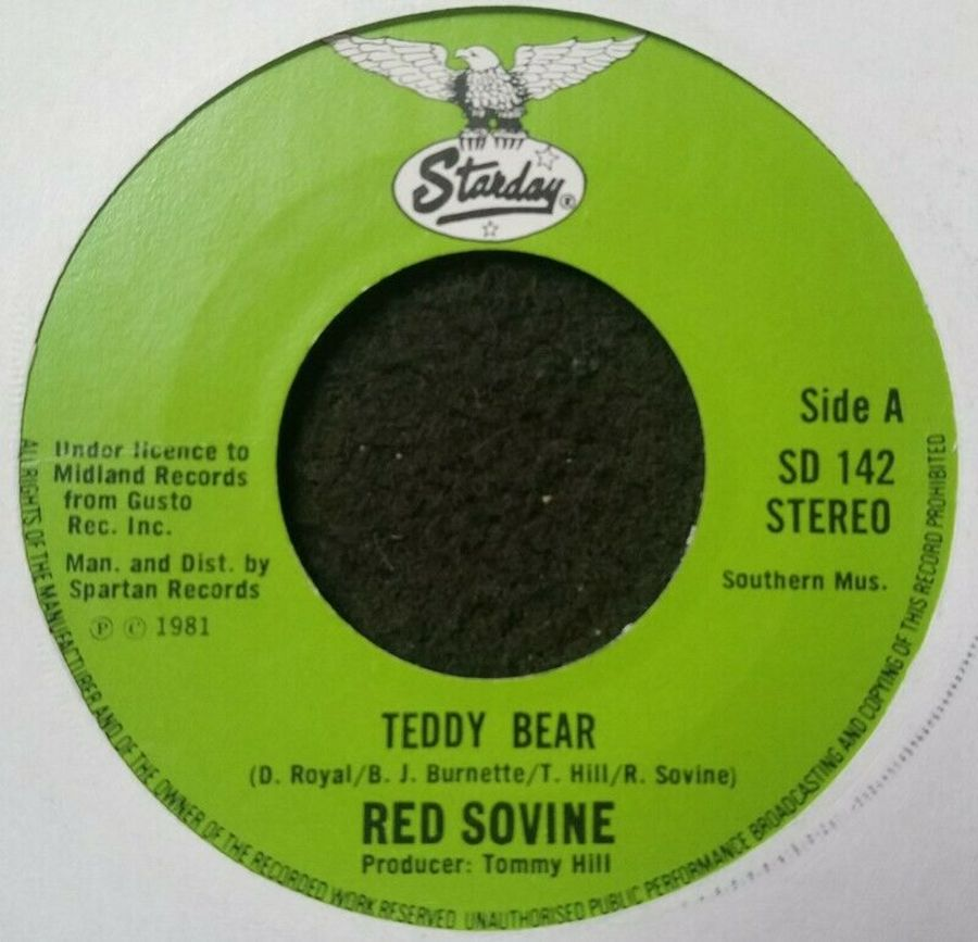 Red Sovine - Teddy Bear - Vinyl Record 7