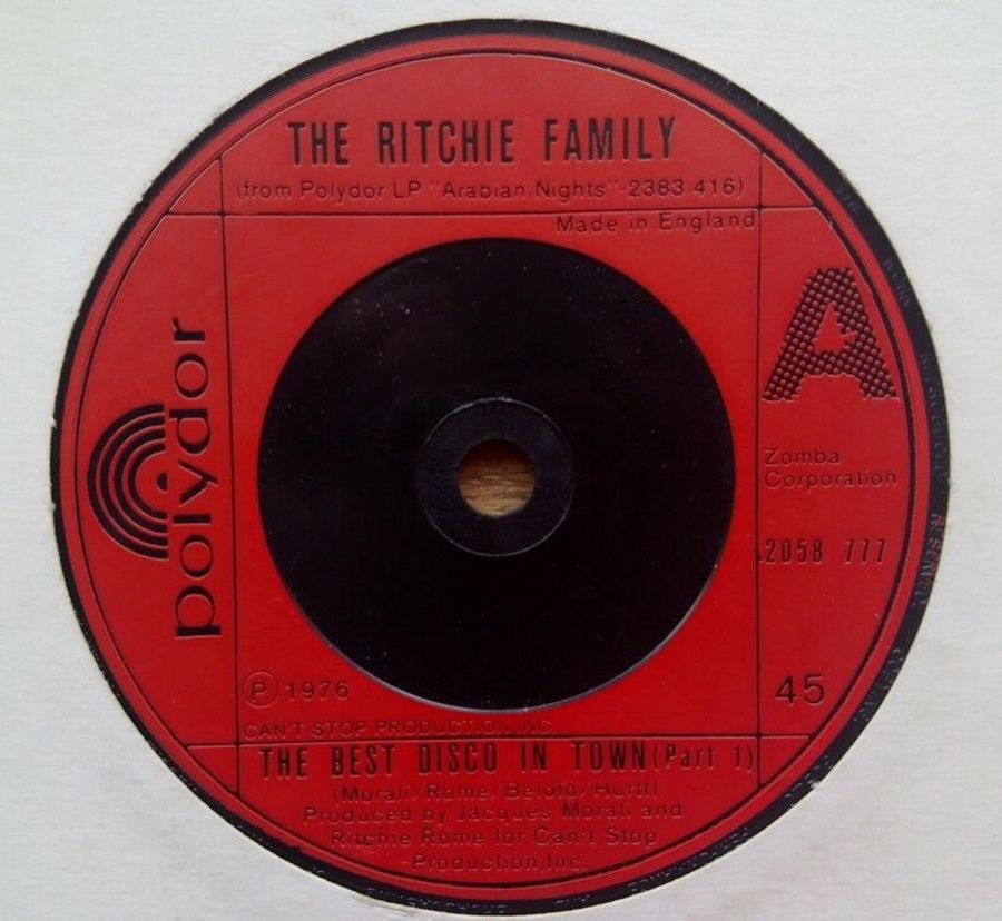 The Ritchie Family - The Best Disco In Town - Vinyl Record 7