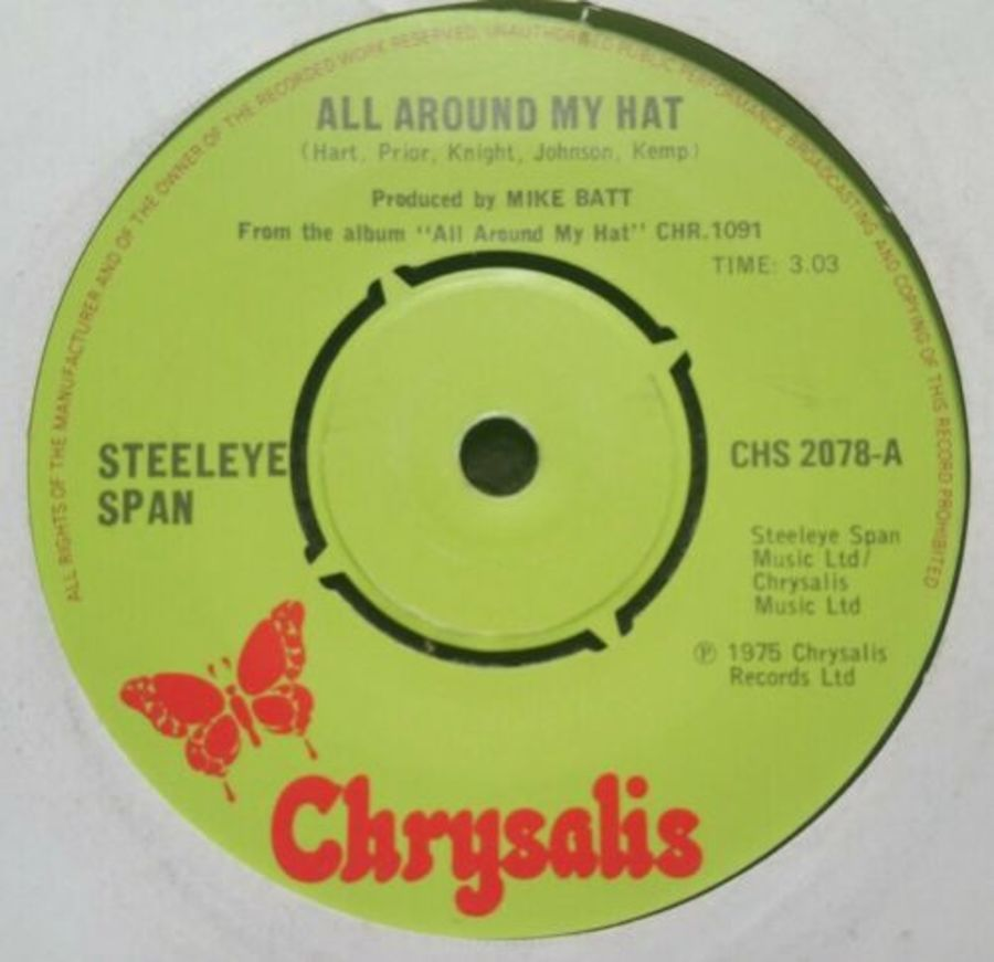 Steeleye Span- All Around My Hat - Vinyl Record 45 RPM ( MS )