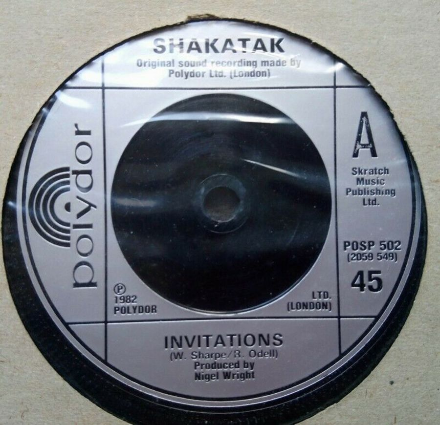 Shakatak - Invitations - Vinyl Record 7