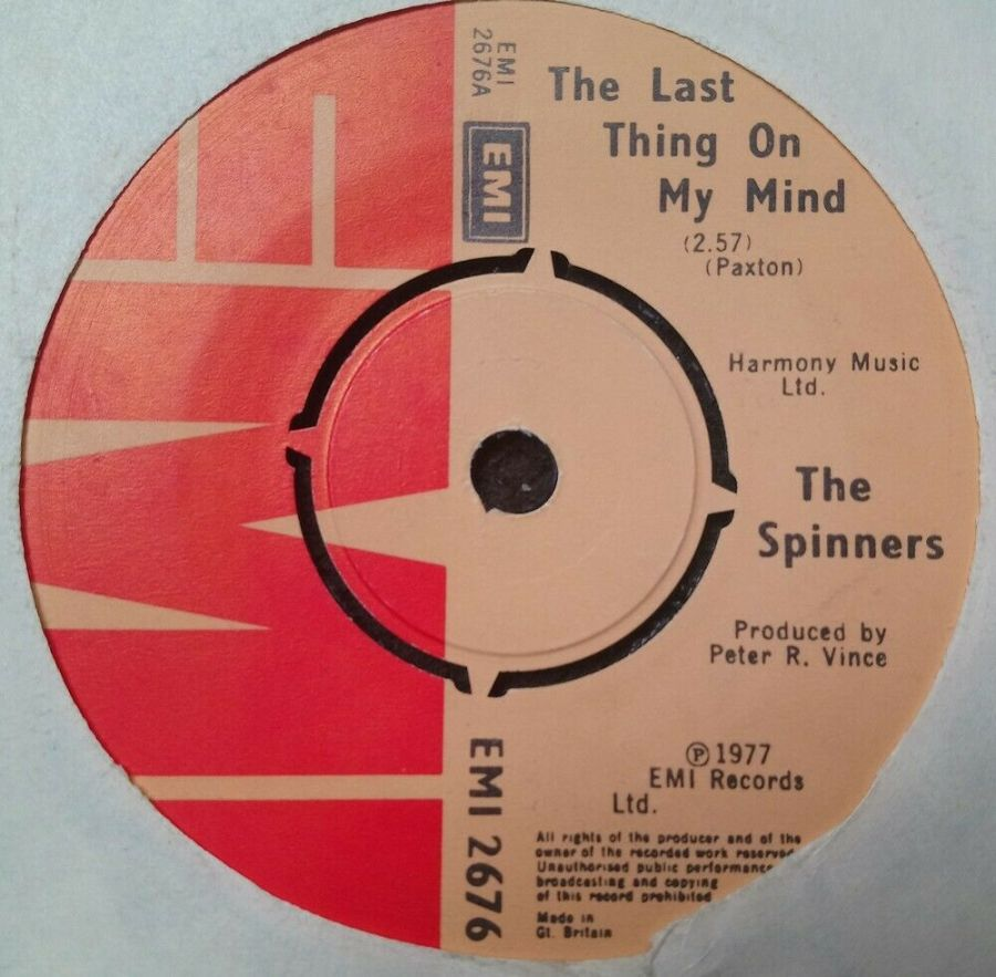 The Spinners - The Last Thing On My Mind - Vinyl Record 7