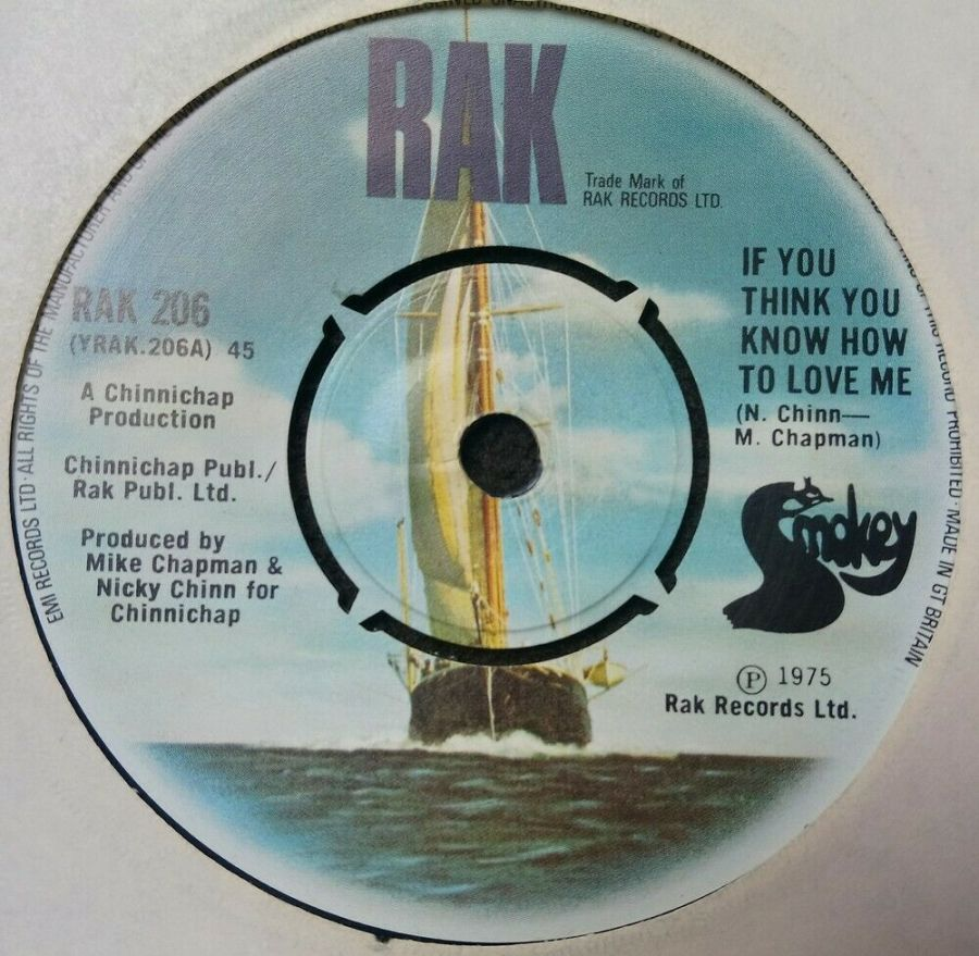 Smokey - If you Think You know How To Love Me - Vinyl Record 7