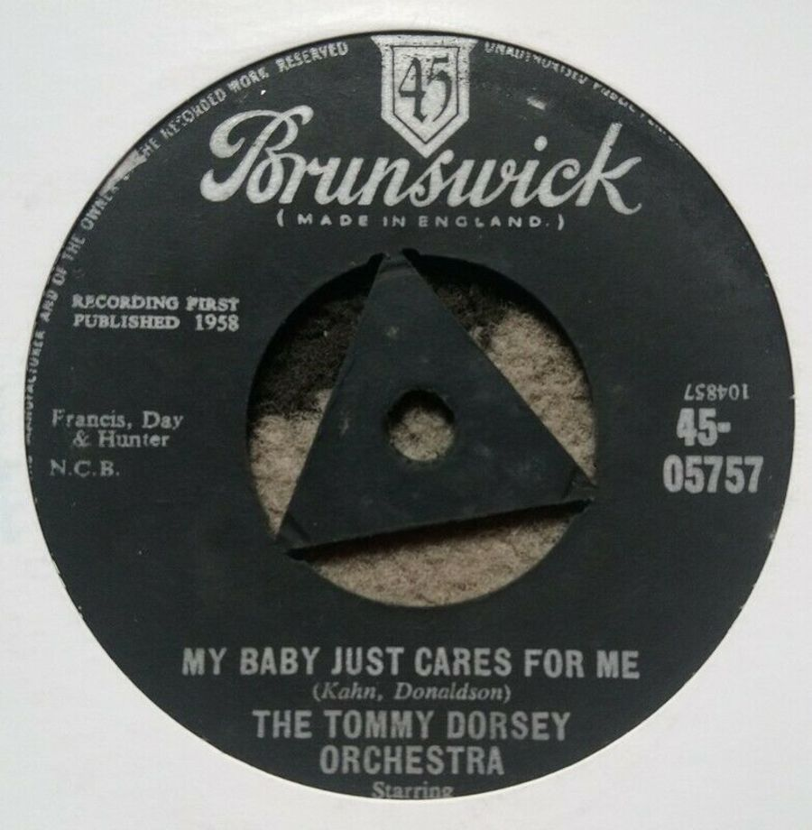 The Tommy Dorsey Orchestra - My Baby Just Cares For Me - 7