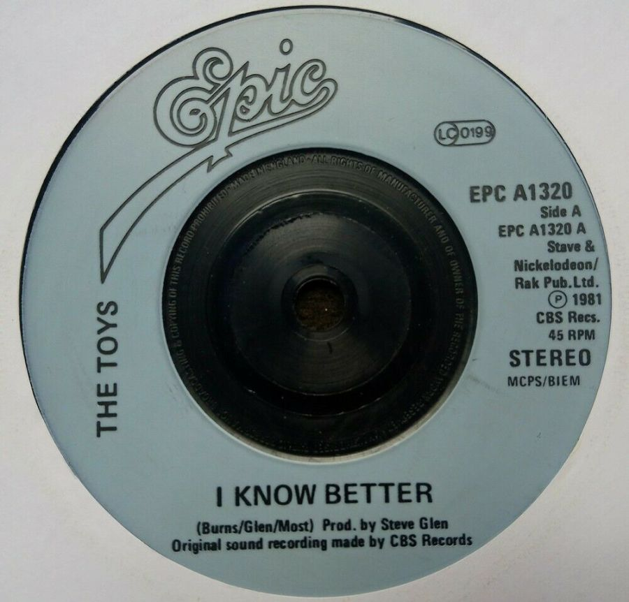 The Toys - I Know Better - Vinyl Record 7