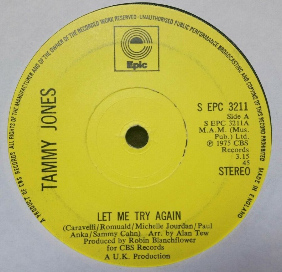 Tammy Jones - Let me Try Again - Vinyl Record 7