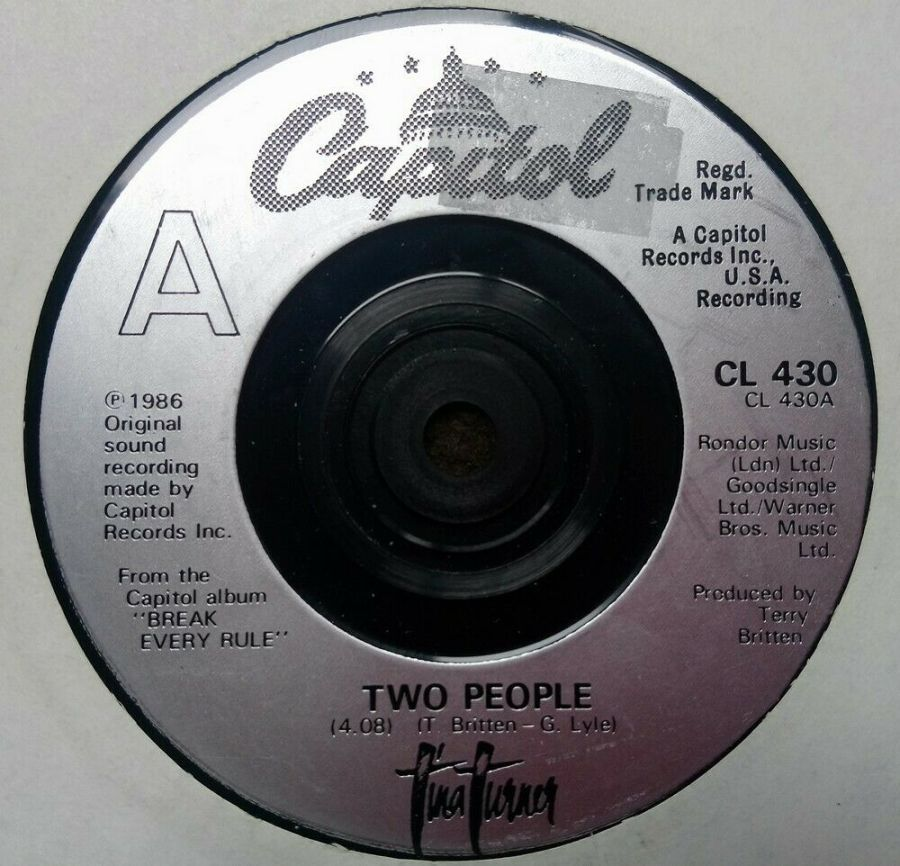 Tina Turner - Two People - Vinyl Record 7