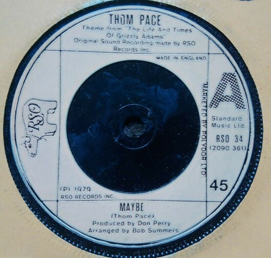 Thom Pace - Maybe - Vinyl Record 7