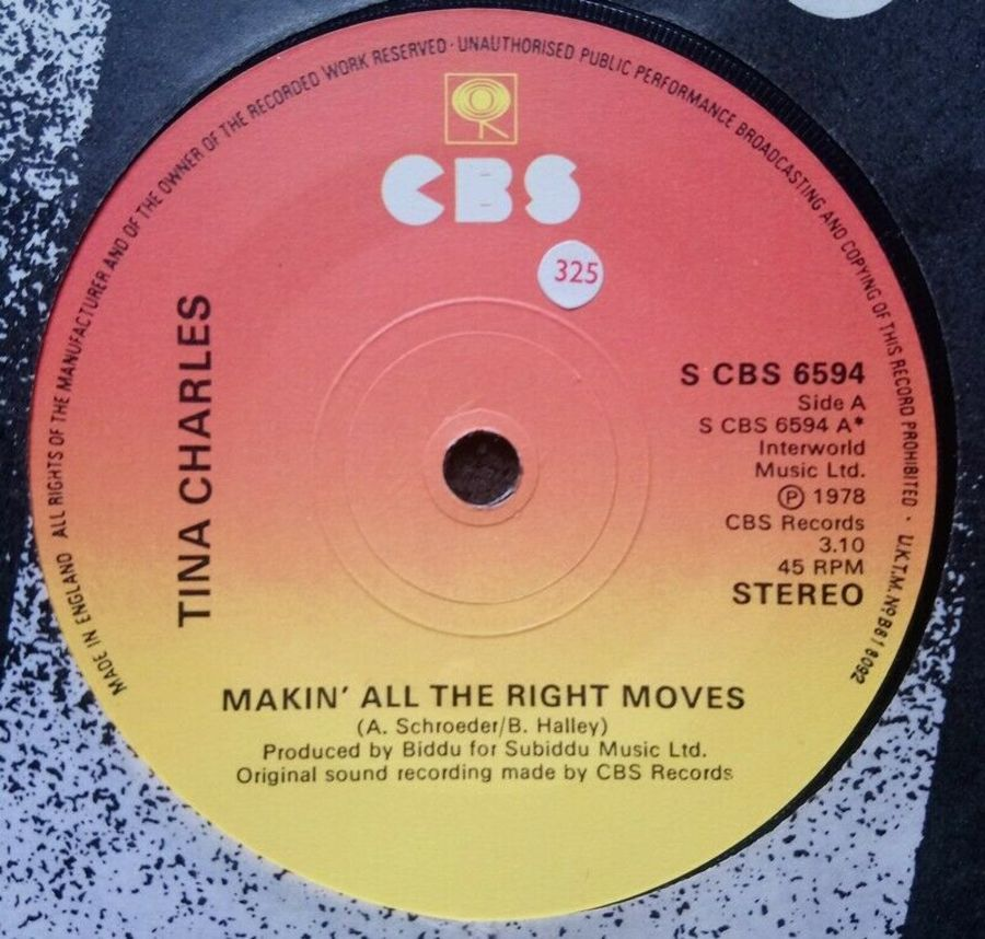 Tina Charles - Makin' All The Right Moves - Vinyl Record 7