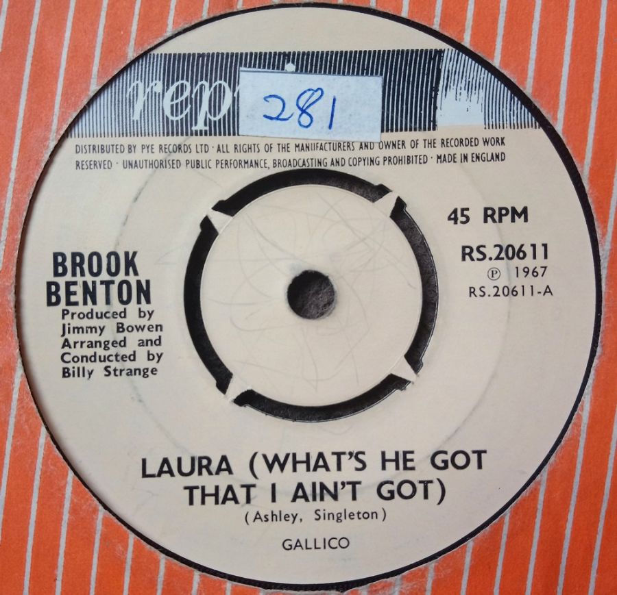 Brook Benton - Laura ( What's He Got That I Ain't Got ) - Vinyl Record 7