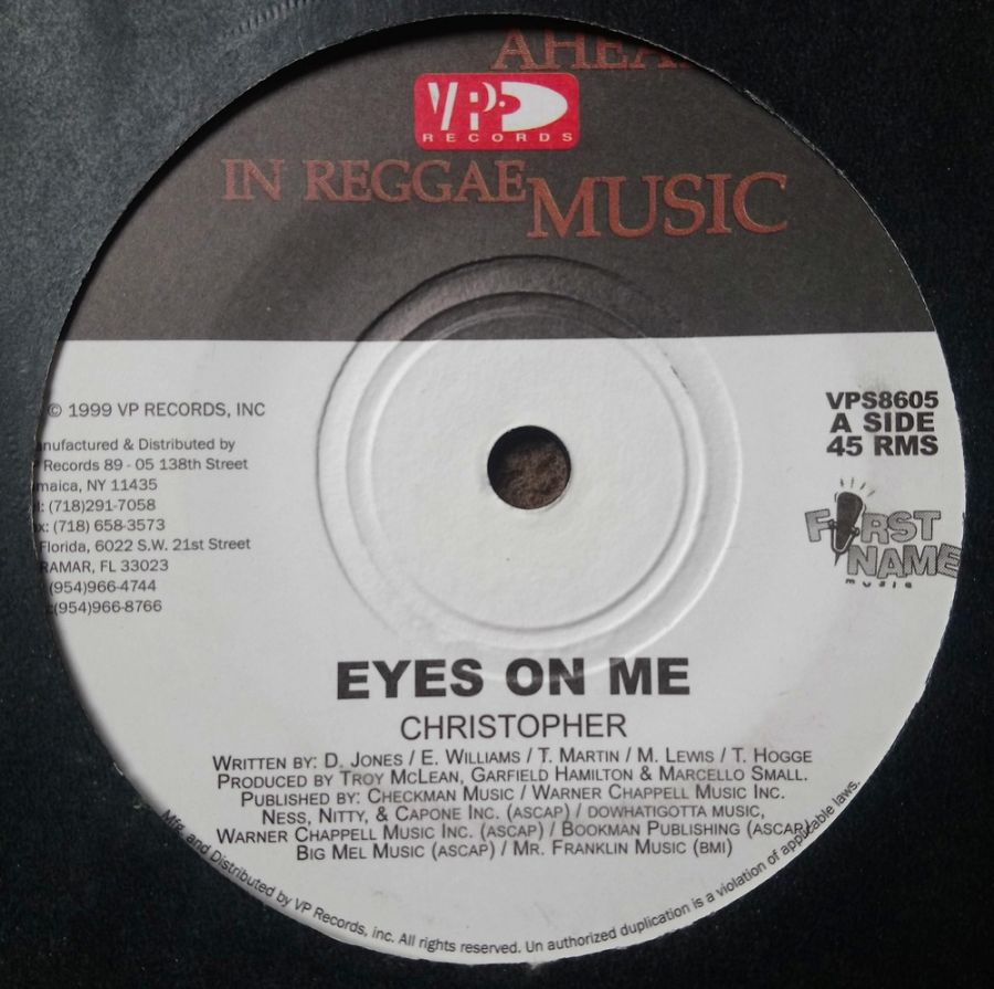 Christopher - Eyes On Me - Vinyl Record 7