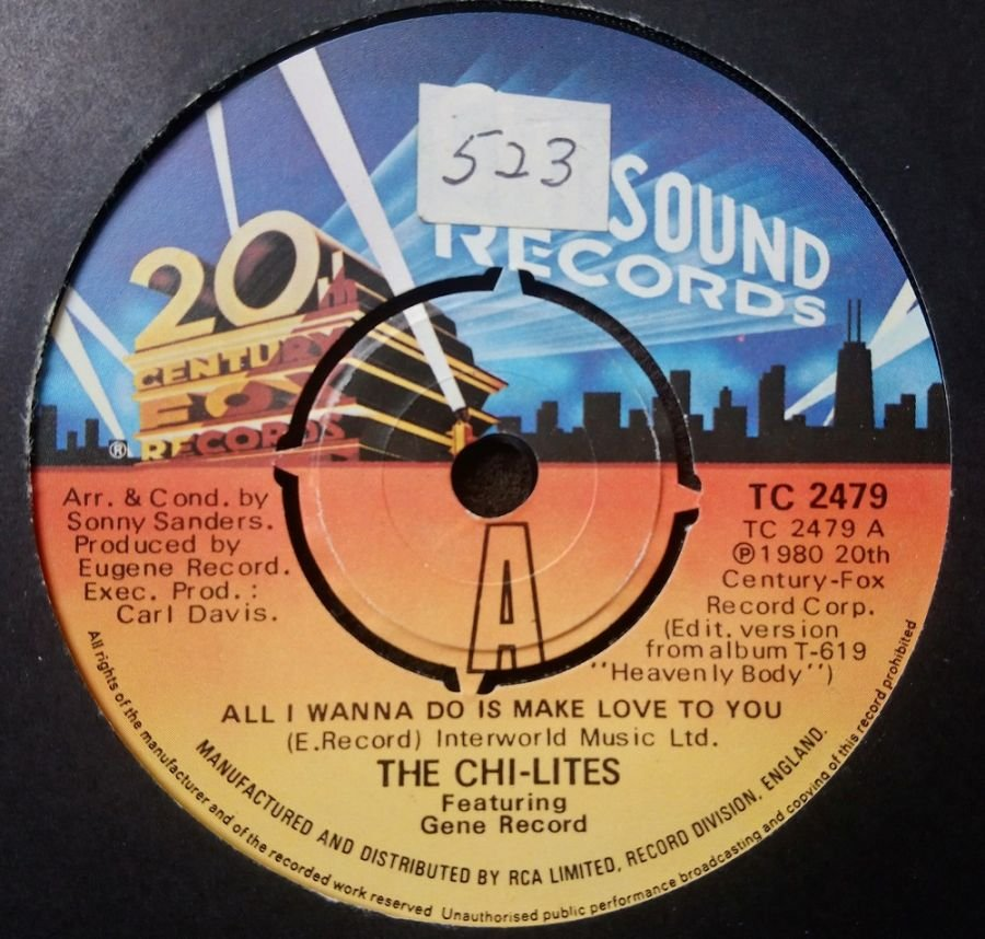 The Chi-Lites - All I Wanna Do Is Make Love To You - Vinyl Record 7