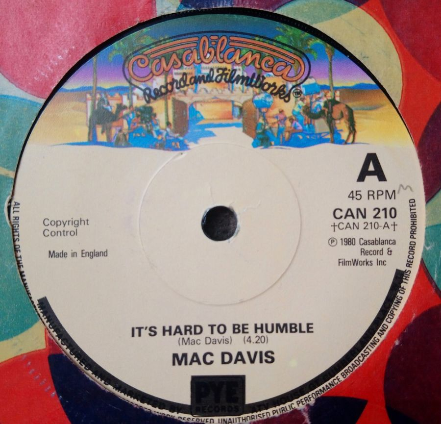 Mac Davis - It's Hard To Be Humble - Vinyl Record 7