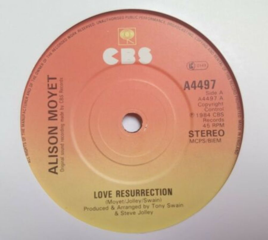 Alison Moyet - Love Resurrection - Vinyl Record 7