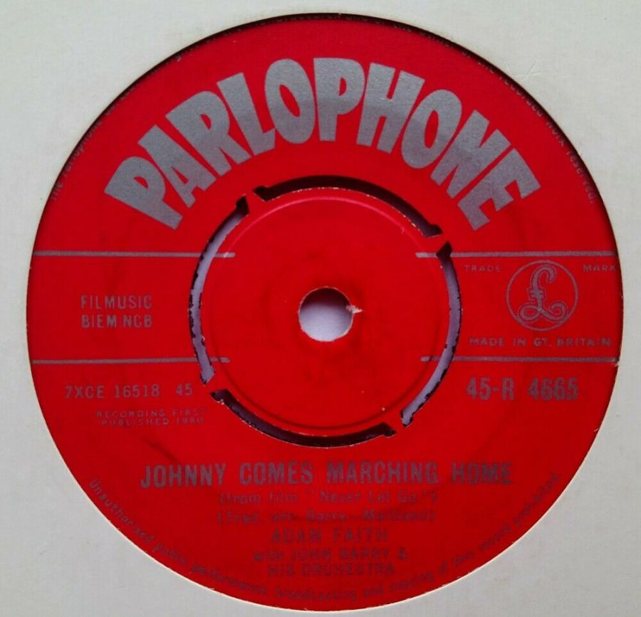 Adam Faith - Johnny Comes Marching Home - Vinyl Record 7
