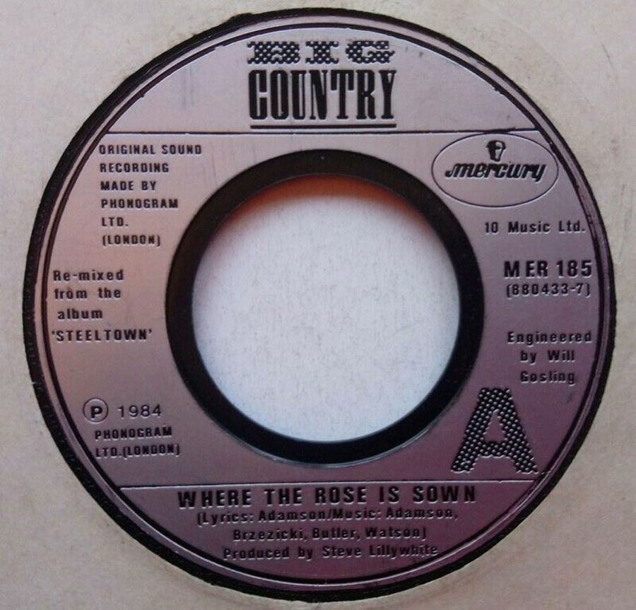 Big Country - Where The Rose Is Sown - Vinyl Record 7