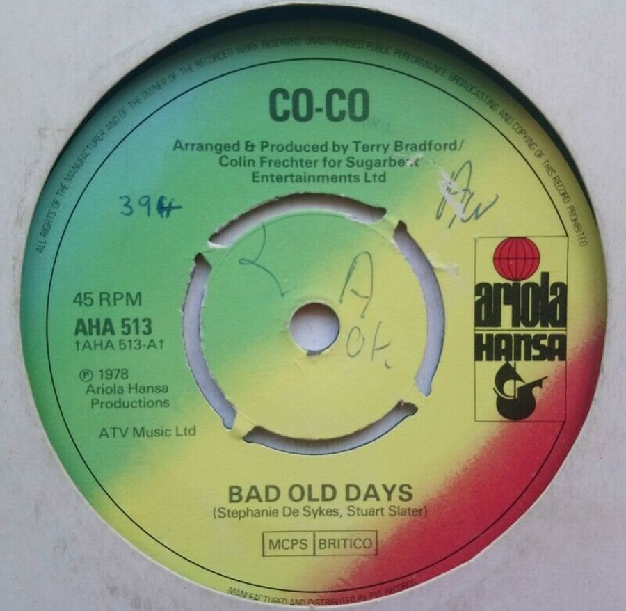 Co-Co - Bad Old Days - Vinyl Record 7