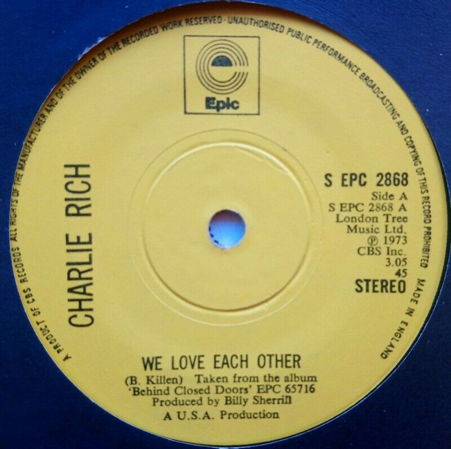 Charlie Rich - We Love Each Other - Vinyl Record 7