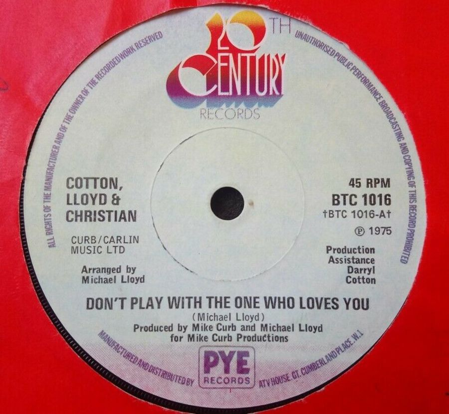 Cotton Lloyd & Christian - Don't Play With The One Who - Vinyl Record 7