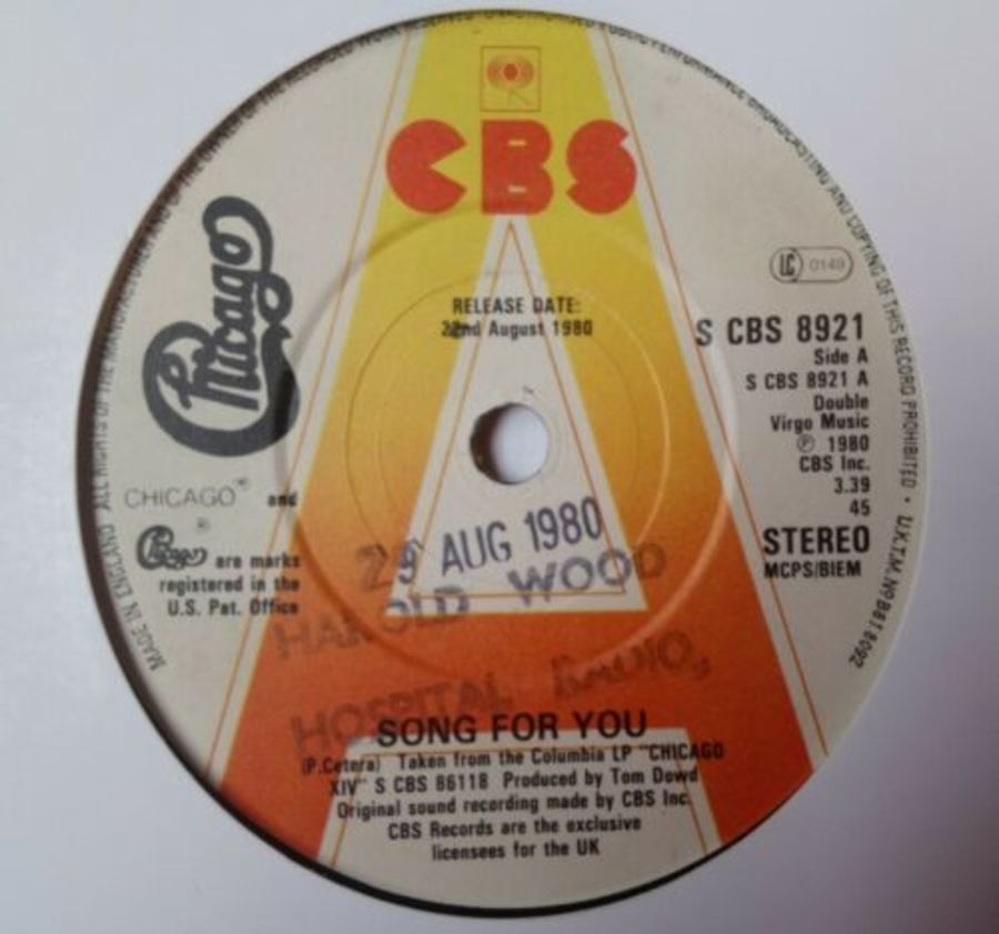Chicago - Song For You ( Promo ) - Vinyl Record 7