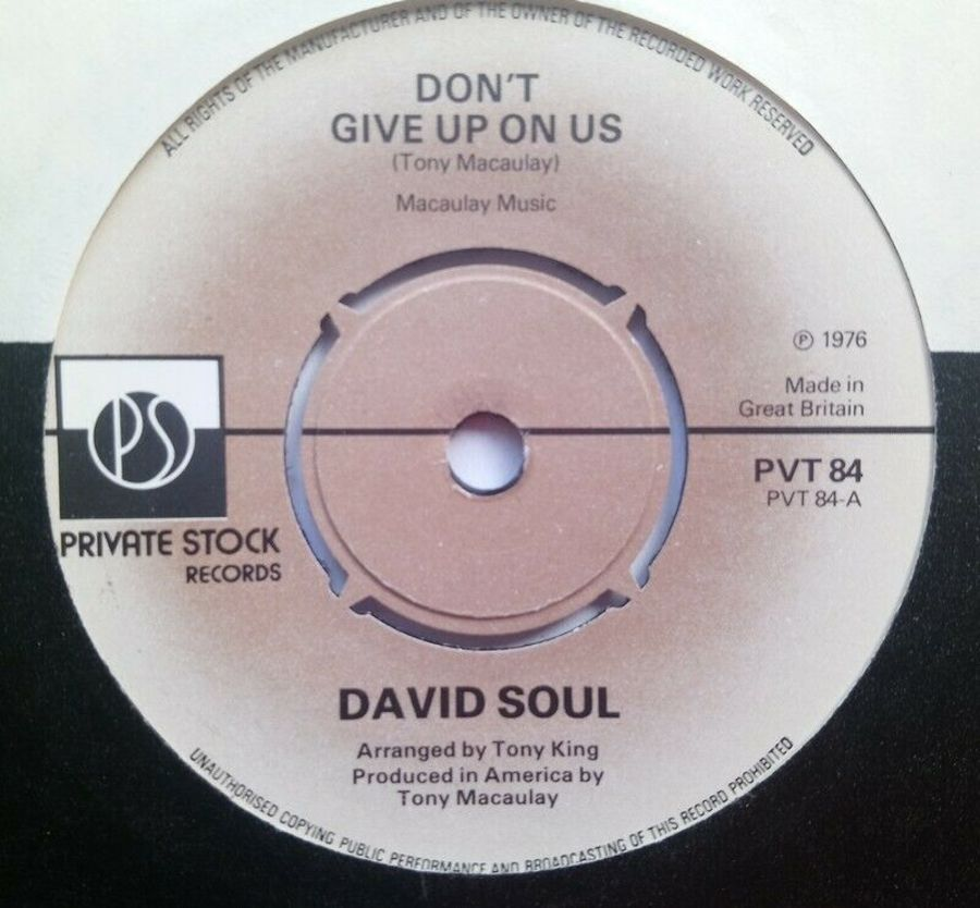 David Soul - Don't Give Up On Us - Vinyl Record 7
