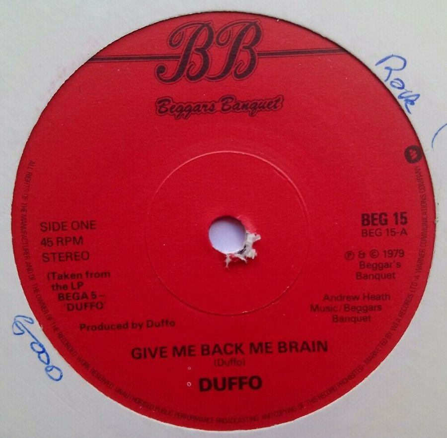 Duffo - Give Me Back My Brain - Vinyl Record 7