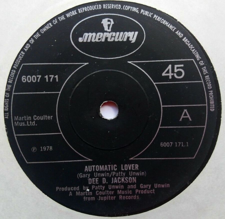 Dee D Jackson - Automatic Lover - Vinyl Record 7