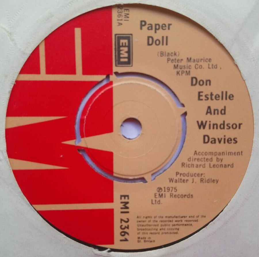 Don Estelle & Windsor Davies - Paper Doll - Vinyl Record 7