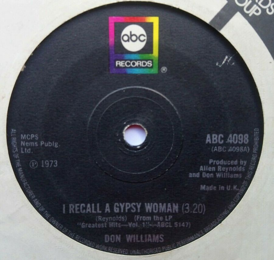 Don Williams - I Recall A Gypsy Woman - Vinyl Record 7