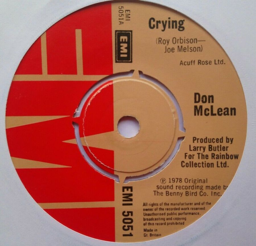 Don Mclean - Crying - Vinyl Record 7