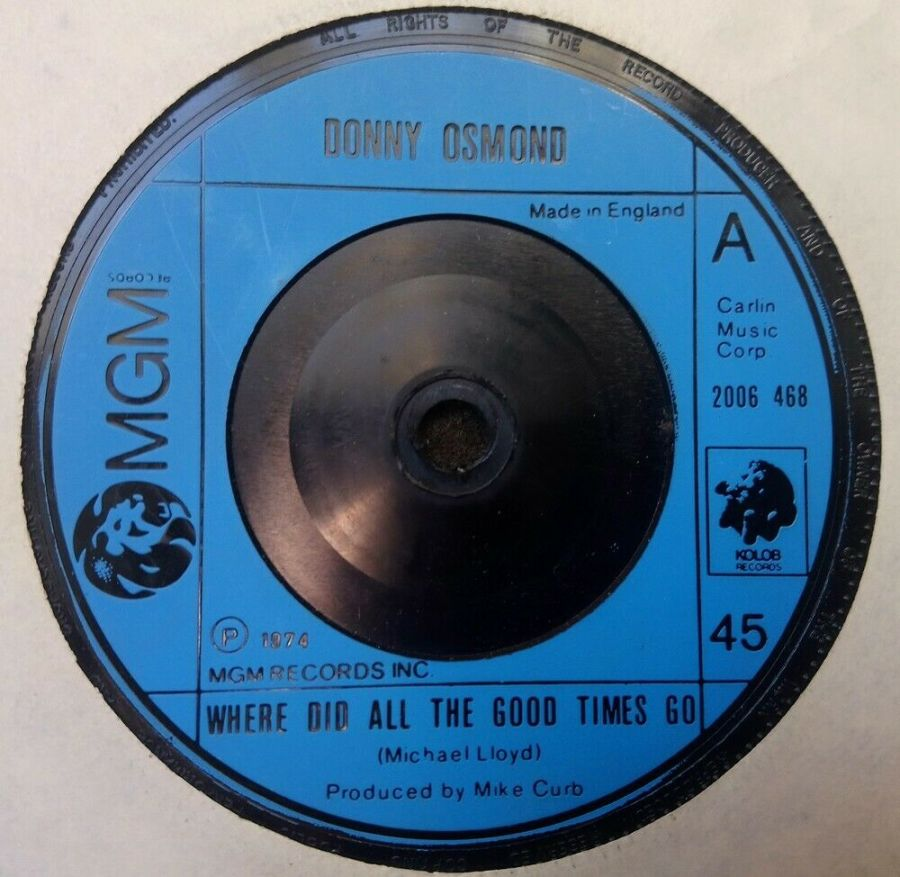 Donny Osmond - Where Did All The Good Times Go - 7