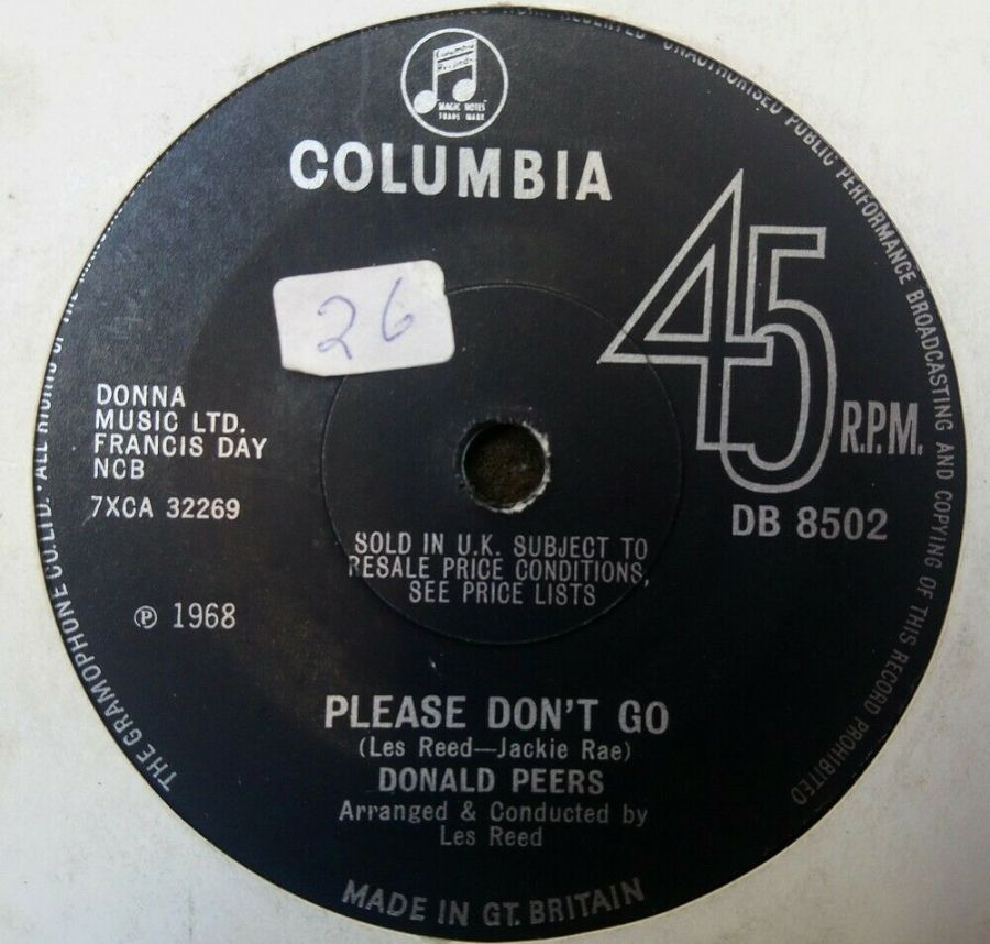 Donald Peers - Please Don't Go - 7