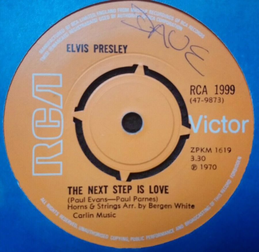Elvis Presley - The Next Step Is Love / I've Lost You - 7